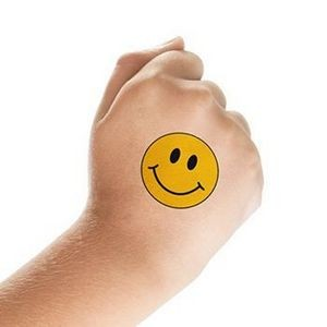 Smiley Face Temporary Tattoo