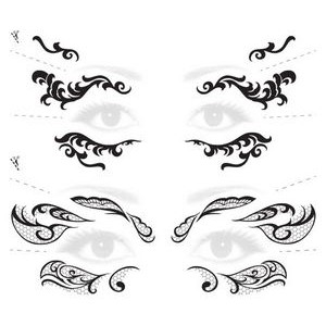 Lace Mask Masquerade Costume Tattoos