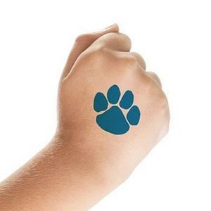 Small Blue Paw Print For Fundraising