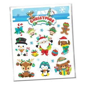 Christmas Friends Holiday Temporary Tattoo Assortment